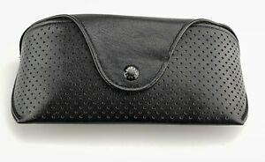 Ralph Lauren Sunglasses Case Only Black Leather Perforated Designer RARE