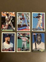 ⚾️HOFer Kirby Puckett 6-CARD LOT including ROOKIE 1985 Topps #536 (clean!!)