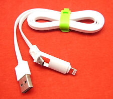 2 in 1 Datenkabel Ladekabel USB Kabel f, Huawei Archos Wiko Alcatel iPod Nano 7G