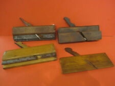 LOT OF 4 ANTIQUE WOOD PLANE PLANERS WOODWORK MOLDING TOOL (#25 + others)