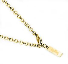 Kipling Stainless Steel Gold Cable Chain Necklace 3 MM,18 INCH (+ 3 Cm extend.)