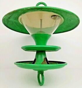 Vintage Tom Torrens National Geographic Atomic UFO Metal Hanging Bird Feeder HTF
