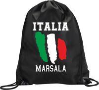 BACKPACK BAG MARSALA ITALY GYM HANDBAG FLAG SPORT