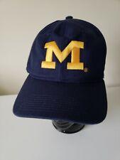 brand new be55c b12db Michigan Wolverines Vintage Large M Embroidered Logo Baseball cap hat  Snapback