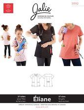 Jalie 3882 Eliane Mock Wrap Neck Scrub Top Sewing Pattern 27 sizes Women & Girls