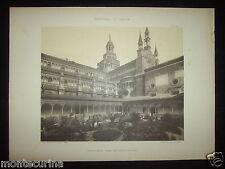1907ca LA CERTOSA DI PAVIA VECCHIA STAMPA PICCOLO CHIOSTRO ARCHITETTURA D110