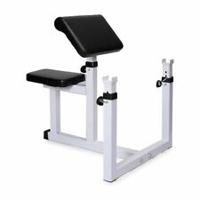Commercial Preacher Curl Weight Bench Seated Preacher Isolated Dumbbell Biceps