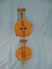 """Cast iron spindles Griswold Company 4"""", 6"""" stove damper baking cooking primitive"""