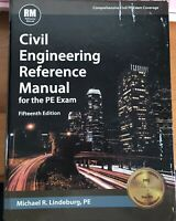 PE Civil Reference Manual 15th Edition by Michael R. Lindeburg (2015, Hardcover)