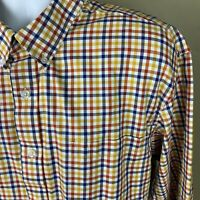 Duluth Trading Co Long Sleeve Button  Check Plaid Shirt 2XLT Tall