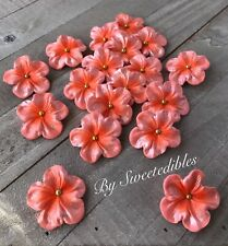 Gum Paste Sugar Edible Blossoms for Cakes and Cupcakes Decorations Peach Fondant