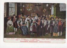 Schwarzwaelder Bauernhochzeit Badische Volkstrachten Postcard Germany 395a