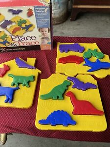 Place and Trace Puzzle Stencil Cookie Cutter & dough Molds by Discovery Toys