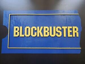 Blockbuster Ticket Stub Wooden Sign
