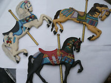 Willitts Carousel Horse Wall Hanging 1986 Lot of 3 Tag Rare