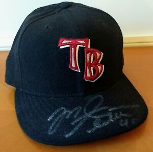 Mike Alstott 40 Signed Tampa Bay Buccaneers Baseball Hat Auto Bucs Cap