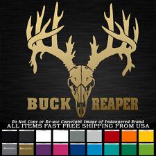 Buck Reaper Antlers Skull Rifle Bow Hunter horns Buck hunting decal sticker