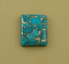 Large Hand-cut Rectangle Cabochon, Mohave blue turquoise, 30x25x6mm rectangle