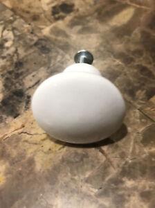 Vintage White Ceramic Door Knob with hardware 2 different sz screws 10pk