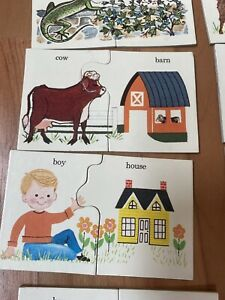 VTG Playskool 24 Match-Ups Puzzle Animal Homes Preschool Educational Toy 1964