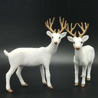 Christmas Simulation White Deer Elk Plush New Year Decorations Ornaments Gift