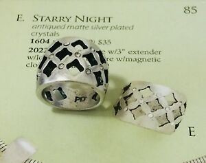 Premier Designs Jewelry STARRY NIGHT silver crystal ring. size: 7