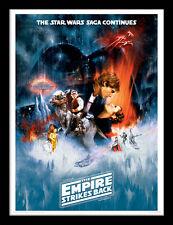 Star Wars el Imperio Contraataca una Lámina - Enmarcado 30 X 40 Oficial