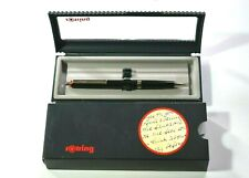 VINTAGE RARE ROTRING BLACK AND SILVER BALLPOINT PEN , MADE IN GERMANY 1980s