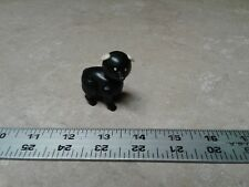 Vintage Fisher Price Little People Black Pig Figure Toy Farm Barn