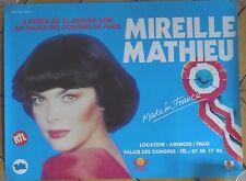 MIREILLE MATHIEU affiche 40x60 cm poster Palais des Congrès Paris 1986 COLLECTOR