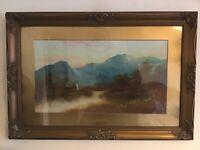 Vintage Antique Gilt framed Victorian original oil painting