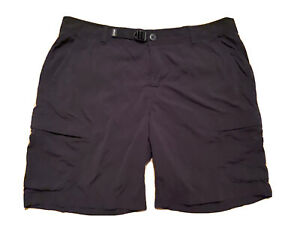 REI Co Op Relaxed Fit Black Lightweight Nylon Casual Cargo Shorts womens 1