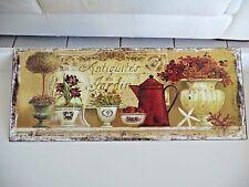 Shabby Blechschild Bild Antiquites Du Jardin Haus Garten Retro-Stil 20x50 cm NEU