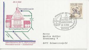 Railways Comm/FDC - Austria - Konstablerwache - Sudbahnhof - 1990 (1654)Z