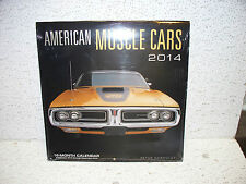 American Muscle Cars 16 Month Calendar Mopar GM Ford Charger GTO Mustang 442