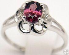 Beautiful Women 14k, Rubelite Diamond Ring, Sz 7.5