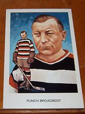hockey hall of fame postcards 1983 Punch Broadbent  A 2