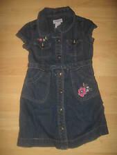 Genuine Kids By OshKosh Osh Kosh Girl's Embroidered Flowers Blue Denim Dress 4T
