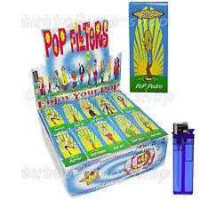 1600 Filtri POP FILTERS Carta a LIBRETTO filtrini CARTONCINO 1 box 50 blocchetti