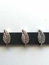 Leaf Pave Slide Charms *New* Fits Keep Collective