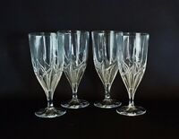 Mikasa Crystal MISTRAL Pattern Iced Tea Glasses Goblets ~ Set of 4