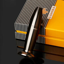 COHIBA Black Torpedo Type Torch Jet & Bright Double Flame Cigar Desktop Lighter