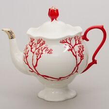 Imperial Lomonosov Porcelain Brewing Tea Pot Coral Pattern FLASH SALE