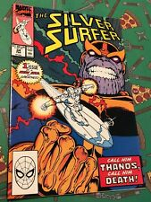 Marvel Comics 1990 The Silver Surfer #34 High Grade Comic Book *Return of Thanos