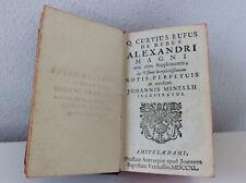 """Quintus Curtius Rufus """"De Rebus Alexandri Magni"""" c. Notis Johannis Minellii 1740"""