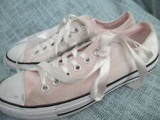 CONVERSE WOMENS  PINK VELOUR SHEAKERS/ SHOES, SIZE 11M