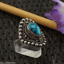 Natürliche echten Edelsteinen aus Sterlingsilber Ringe mit Türkis-Hauptstein