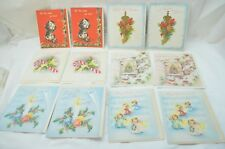 VINTAGE CHRISTMAS CARDS MID CENTURY VARIETY 12 UNUSED GREETING CARDS 1950s LOT d