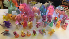 Lot Of 32 My Little Ponies Different Sizes