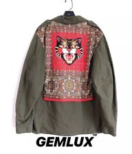 756618b0f9a GUCCI COATED PARKA JACKET WITH ANGRY CAT SILK PATCH Size L